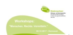 Noch freie Plätze+++Workshops am 02.12. in Hannover