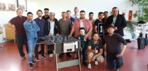 Tischfußballturnier und Diskussionsrunde in Nienburg