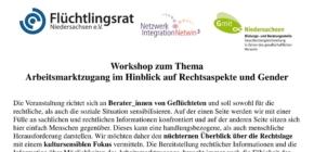 Workshopangebot zu Rechtsaspekten und Genderthemen