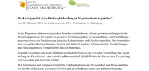 """Werkstattgespräch """"Geschlechtergleichstellung im Migrationskontext gestalten"""""""