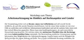 Workshop zu Rechtsaspekten und Genderthemen